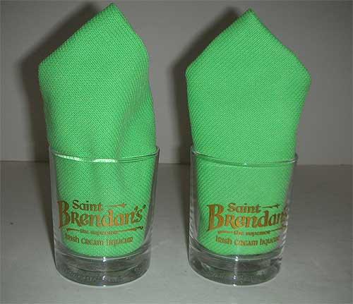 St. Brendan's Glass w/ embossed bottom