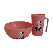 Clown  cup & bowl   child's dish  set