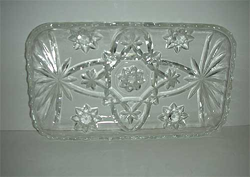 EAPC celery  Star of David  rectangle glass dish