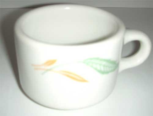 Homer Laughlin  Restaurant Leaf  Cup