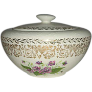 Spring violet Covered Small bowl