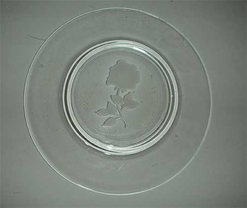 Avon  etched rose limited edition crystal plate
