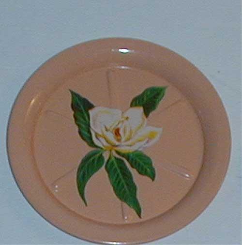 Vintage peach flowered coasters