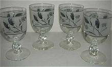 Wheat stemmed silver wheat glasses