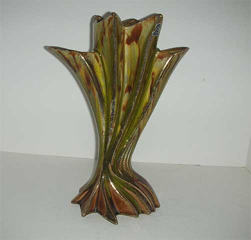 California Original Pottery retro fan vase