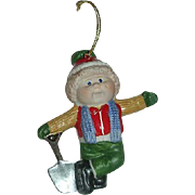 1984 Cabbage Patch Boy w/ shovel Porcelain ornament