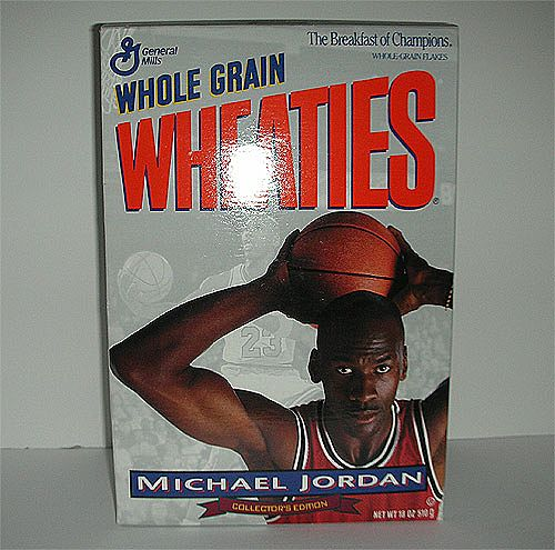 Michael Jordon Wheaties Unopened Cereal Box
