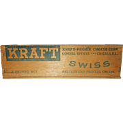 Wood Kraft-Phenix  Swiss cheese box