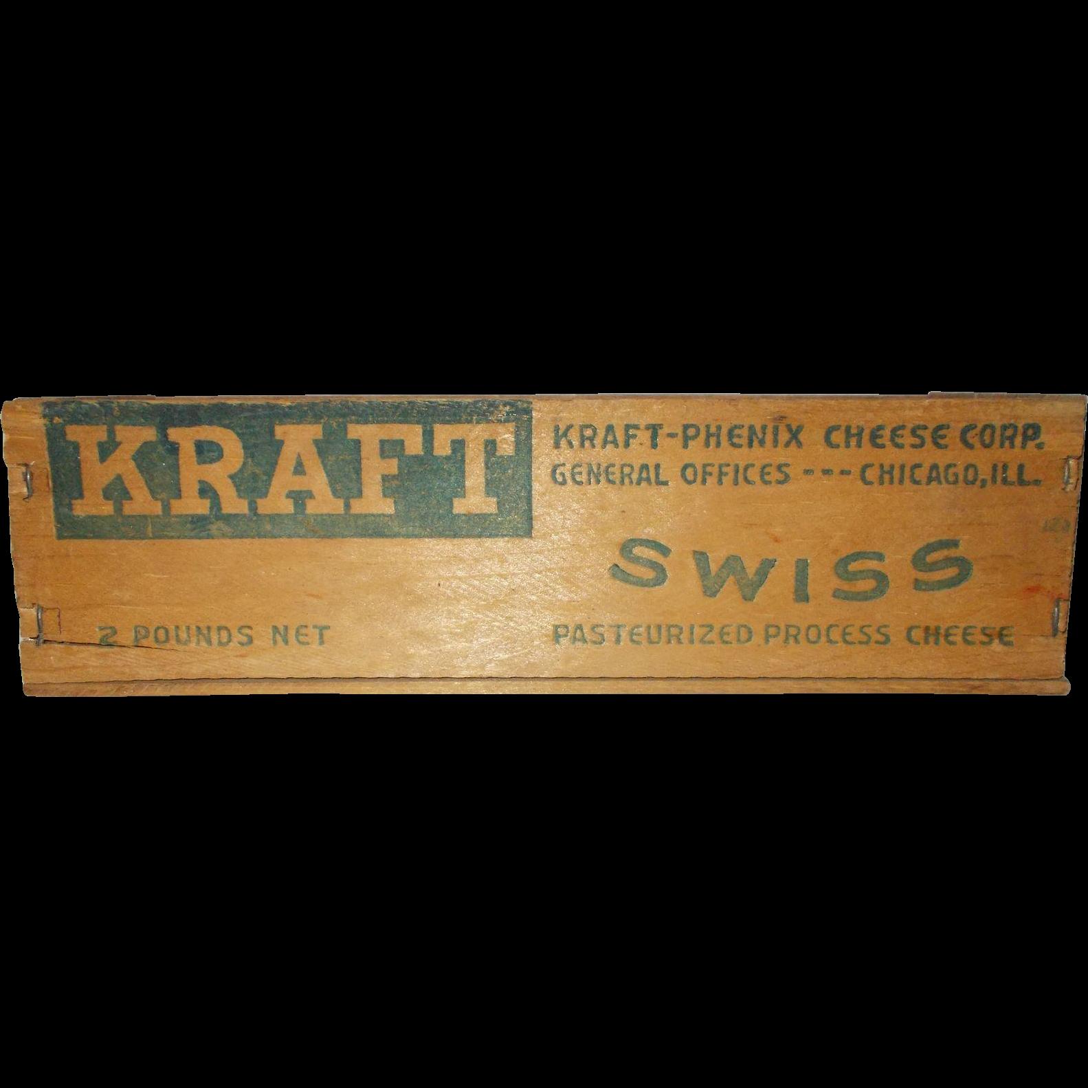 Wood Kraft-Phenix  Swiss cheese box