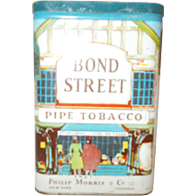 Phillip Morris & Company Bond Street Pipe pocket Tobacco can