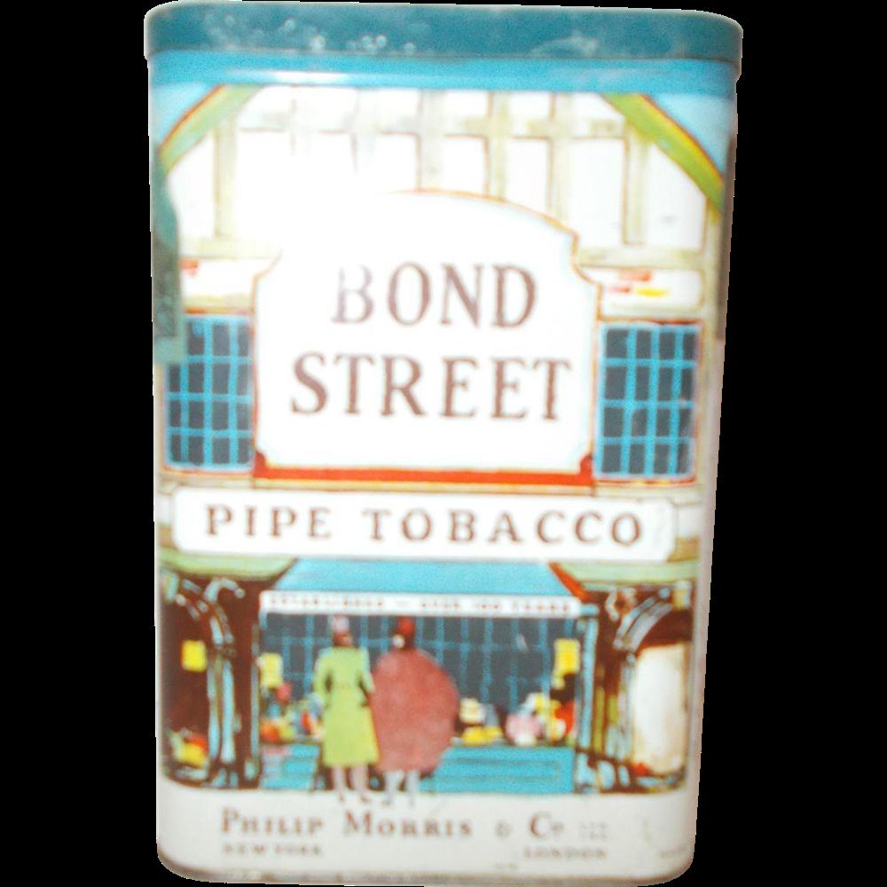 Phillip Morris & Company Bond Street Pipe pocket Tobacco can