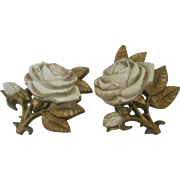 Homco   1974 rose wall  hanging set