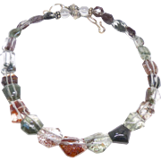 Lodalite and Sterling Silver Necklace