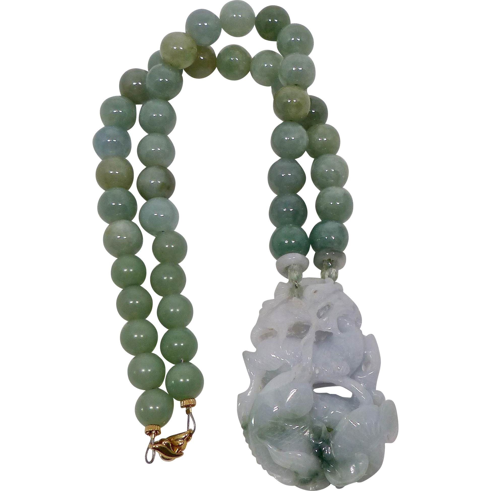 green for of art necklace bead larger click view the museum graduated item jade shop