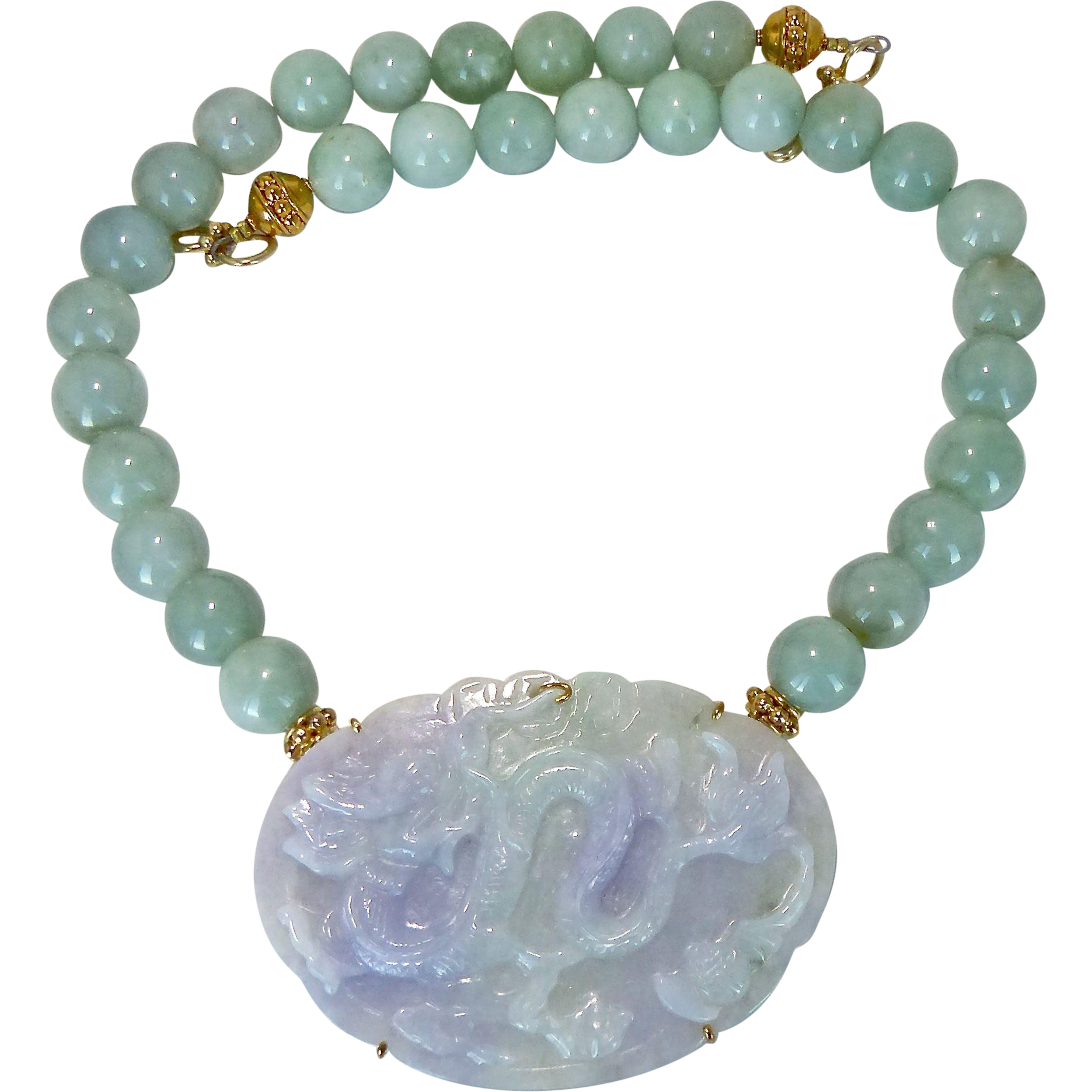 Lavender and green carved jadeite jade dragon burmese for Pictures of jade jewelry