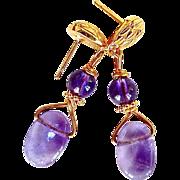 Amethyst Fancy Drop Earrings