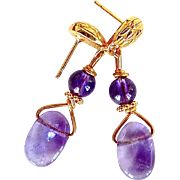 Amethyst Fancy Drop Earrings