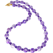 Faceted Purple Amethyst Necklace