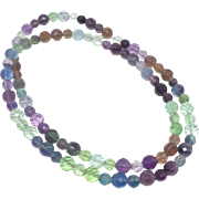 Faceted Rainbow Fluorite Necklace