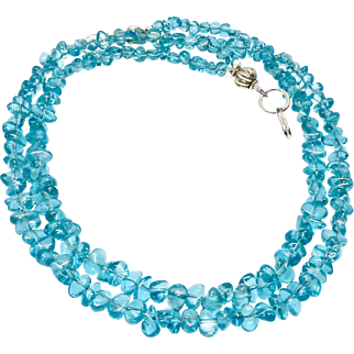 Tumbled Clear Aqua Apatite Necklace