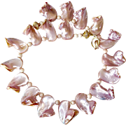 Pink Mother of Pearl Shell Necklace