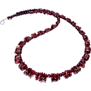 Rich Red Garnet Drops Necklace