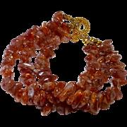 Oregon Sunstone Nugget Bracelet