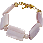 Pink Mother of Pearl Shell Bracelet