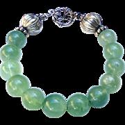 Green Fluorite Sterling Silver Bracelet