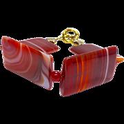 Carnelian Agate Bracelet - Red Tag Sale Item
