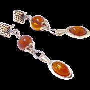 Baltic Amber Drop Earrings