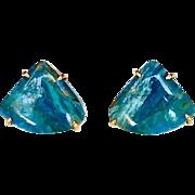 Peruvian Opal Button Earrings