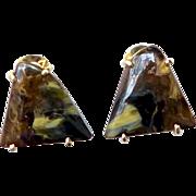 Pietersite Button Earrings