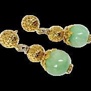 Enhanced Jade Drop Earrings