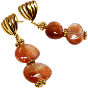 Oregon Sunstone Drop Earrings