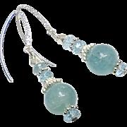 Natural Aquamarine Drop Earrings