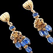 Blue Kyanite Drop Chandelier Earrings