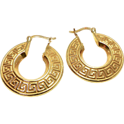 Vintage Italian 18k Gold Hoop Earrings