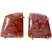 Oregon Sunstone Button EarrIngs