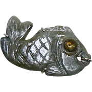 Green Jade Fish Pin