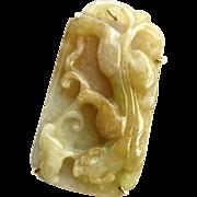 Golden Jade Dragon Pin and Pendant
