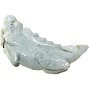 Carved Jade Dragon Pin and Pendant