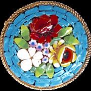Vintage Italian Glass Mosaic Pin