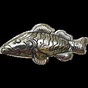 Vintage Silver Fish Pin
