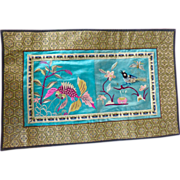 Vintage Chinese Silk Embroidered Panel