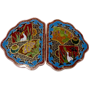 Antique Asian Cloisonne Buckle