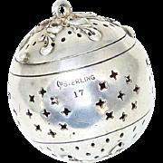 Victorian Sterling Webster Tea Ball