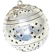 Victorian Sterling Webster Tea Ball
