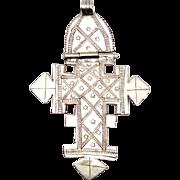 Antique Ethiopian Coptic Silver Hinged Cross