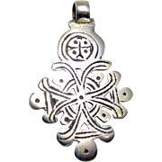 Vintage Coin Silver African Ethiopian Coptic Cross